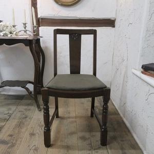 イギリス アンティーク 家具 ダイニングチェア 椅子 イス 木製 オーク 英国 DININGCHAIR 4859c
