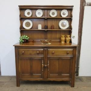 イギリス ビンテージ 家具 アーコール ドレッサー カップボード キャビネット 飾り棚 食器棚 木製 収納 英国 COPBOARD 6587b