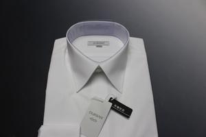 \8690新品ダーバンD'URBAN 形態安定 レギュラーカラー/定番ホワイトドレスシャツ長袖 38-84 白/3700021103(2F826