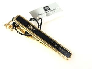 送料無料 未使用保管品 ピエールバルマン PIERRE BALMAIN ネクタイピン ブラックカラー×ゴールドカラー YMA-308