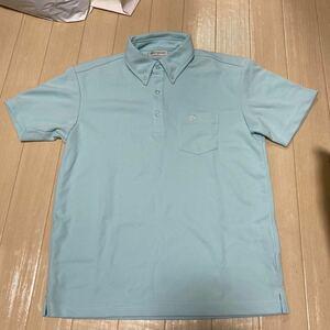 【未使用品】 phiten ファイテン 半袖ドライポロシャツ Mサイズ ライトブルー ボタンダウンシャツ