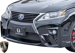 【M's】 レクサス 10 RX 後期 RX450h RX350 RX270 (2012.4-2015.10) AIMGAIN 純VIP GT フロントバンパー // FRP エイムゲイン エアロ