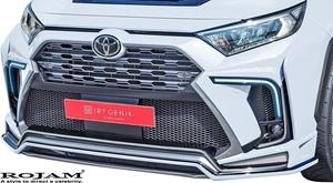 【M's】トヨタ 50系 RAV4 X/G/G-Z (2019/4-) ROJAM フロントバンパースポイラー LED.ver // FRP ロジャム エアロ パーツ ラブ4 ラヴ4