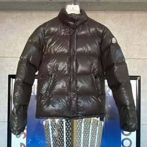 【即決】MONCLER モンクレール ダウンジャケット カーキブラウン系 確実本物 正規品 サイズ1