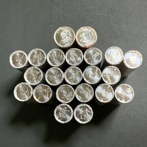2020年東京オリンピック・パラリンピック競技大会記念貨幣(第一次~四次発行分)の百円+五百円クラッド貨幣 22種類 ロールセット