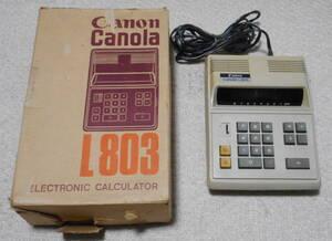 Canon 電卓 Canola 「L803」 元箱付き・作動品 卓上電子計算機 キャノーラ キヤノン