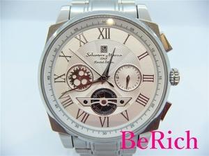 サルバトーレ マーラ Salvatore Marra メンズ 腕時計 SM1201 ホワイト シルバー 文字盤 SS クロノグラフ クォーツ QZ【中古】ht3255