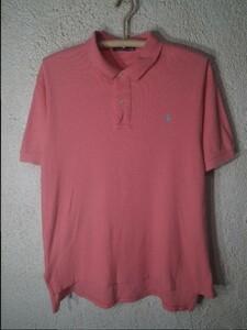 n4561 Polo Ralph Lauren ポロ ラルフ ローレン 90s ナイガイ 大きめコーデ 半袖 ポロシャツ ワンポイント ロゴ 刺繍