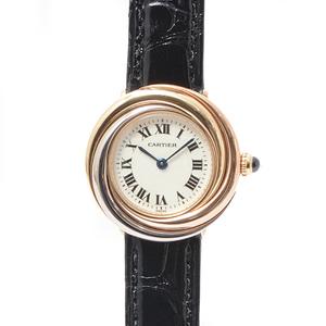 カルティエ 時計 レディース トリニティ ウォッチ 電池 ゴールド 美品 Cartier【中古】