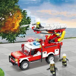 LEGO互換 消防車3 【水が出る!】