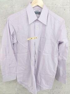 ◇ D'URBAN ダーバン シャドーストライプ 長袖 ドレス シャツ 39-M パープル # 1002799793285
