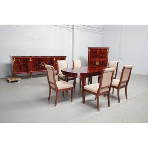 品番8510現地在庫販売ベルギー原産アンティーク家具マホガニー製ダイニングルーム9点セット1950年