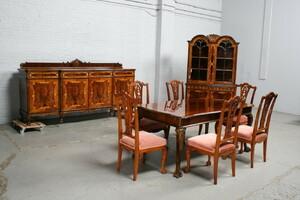 品番7181ヨーロッパ市場在庫品アンティーク家具ダイニング9点セット現地在庫商品1940年代ベルギー原産ウォールナット製
