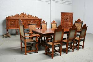品番5169現地在庫販売フランス原産アンティーク家具マホガニー製ダイニングルーム11点セット1940年