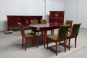 品番8732現地在庫販売フランス原産アンティーク家具マホガニー製ダイニングルーム9点セット1940年