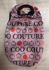 クークチュール クールクール メッシュ タンク S 小型犬 チワワ トイプー パピー coo couture 犬 服 熱中症 クール ロゴ ピンク りんご