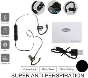 ★新品/安い!★防水Bluetoothイヤホン/ブルートゥース・ヘッドセット/ワイヤレス/スポーツ・ジョギング用/ステレオ/黒