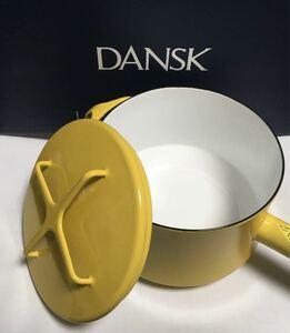 ★新品★ DANSKダンスク ホーロー片手深型ソースパン。18cm。イエロー。