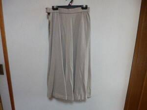 ライトブラウン毛100% フレアースカート ウエスト61cm 中古 毛100% 丈約72cm