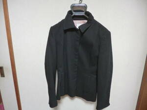 ジャケット 9R毛98%ポリウレタン2%黒 中古