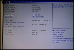 NEC Mate ML-F PC-MK19ELZZDF Celeron G465 1.9GHz メモリ4GB HDD160GB DVD-ROM BIOS起動確認済