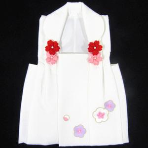 [京の舞姿]七五三3歳刺繍被布コート 白 ghiu02