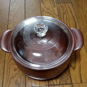 【新品未使用】ウィルセラム 両手鍋 超耐熱 セラミック鍋 遠赤外線セラミック
