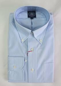 ★J.PRESS★長袖ボタンダウンシャツ(サイズ41-85、形態安定、日本製、青ストライプ)新品