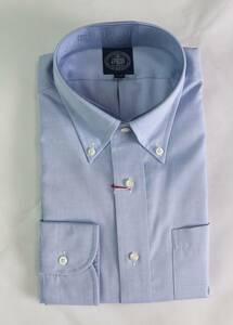 ★J.PRESS★長袖ボタンダウンシャツ(サイズ41-85、形態安定、日本製、サックス)新品