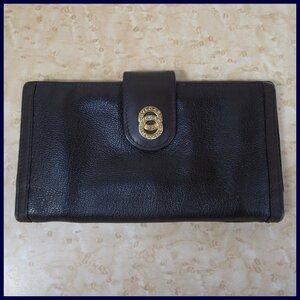 B249【本物保証】 ブルガリ ドッピオトンド レザー 長財布 ダークブラウン ブルガリブルガリ BVLGARI