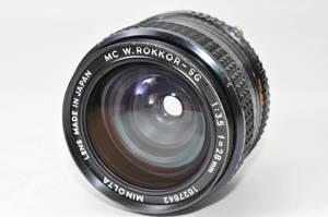 動作品 ミノルタ MINOLTA MC W.ROKKOR-SG 28mm F3.5 【1627642】 ♯9337