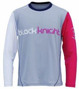 【T-0200LTORG-LGRY XL】Black Knight(ブラックナイト) ロンT 長袖Tシャツ ライトグレー サイズXL