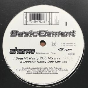 ●【house】Basic Element / Shame[12inch]オリジナル盤《4-1-14 9595》