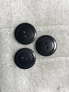 2128 約21㍉ 濃紺  ボタン 3個セット ビンテージ  未使用品 手芸 裁縫 おしゃれ ハンドメイド DIY リメイク