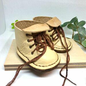 革細工 ミニチュア8センチサイズブーツ miniature boots.