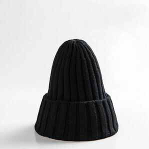ニットキャップ ニット帽 ビーニー 韓国 冬服 ブラック 黒 古着