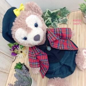 ダッフィー☆シェリーメイ☆赤オーバーブラウス女の子セット☆ハンドメイド 服 コスチューム