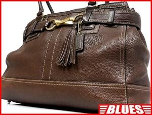 即決★COACH★レザーハンドバッグ オールドコーチ メンズ 茶 ブラウン 本革 トートバッグ 本皮 かばん 鞄 レディース 手提げバッグ