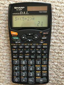 関数電卓シャープEL-520F