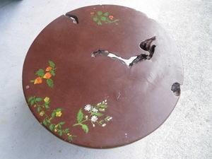 天然木 丸型ちゃぶ台 無垢材 手造りちゃぶ台 直径63cm コンパクトタイプ