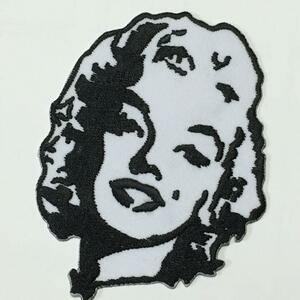 001 マリリン モンロー アイロン ワッペン セクシー レトロ アメリカン Marilyn Monroe 刺繍 パッチ リペア