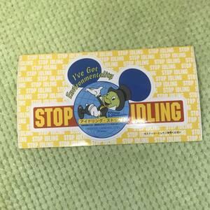 【TDR・東京ディズニーランド・ディズニーシー】非売品 ステッカー・シール★アイドリング ストップ!★ジムニークリケット・ピノキオ