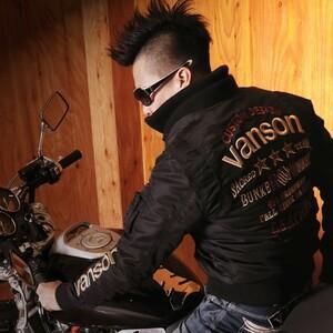 当店別注 バンソン VANSON ナイロンツイル MA-1 フライトジャケット NVJK-401 ブラック【XXLサイズ】バンソン MA1