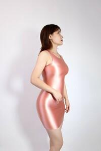 【2020秋最新作】コスプレ衣装 ワンピースドレス 伸縮性あり レースクイーンレオタード ピンク Lサイズ
