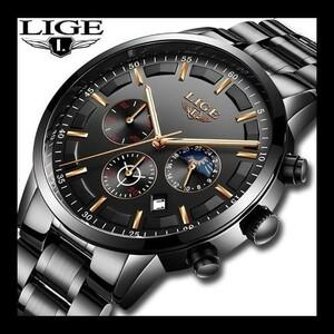 特価!腕時計メンズ LIGE ファッションスポーツクォーツ時計メンズ腕時計トップブランドの高級ビジネス防水時計レロジオ