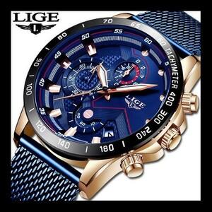 特価!ファッションメンズ腕時計 トップブランド高級腕時計 クォーツ時計ブルー腕時計 防水スポーツクロノグラフレロジオ