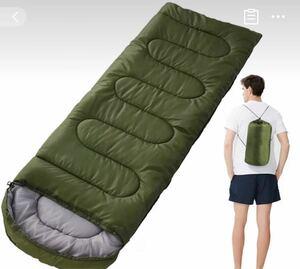 寝袋シュラフ 軽量 寝袋 収納袋2個