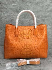 クロコダイル ワニ革 ショルダーバッグ/トートバッグ/ハンドバッグ 2way 本革保証 女性 カバン 鞄 肩掛け 斜め掛け 手提げ カジュアル 35cm