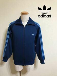 adidas アディダス 70s 80s 西ドイツ ビンテージ ジャージ トラックトップ トップス ジャケット サイズ5号 長袖 ネイビー デサント製