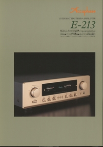 Accuphase E-213のカタログ アキュフェーズ 管3848s